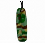 Board Pendant - 'Camo' (Green mix) - Chewigem